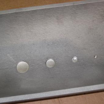corrosion holes of different sizes