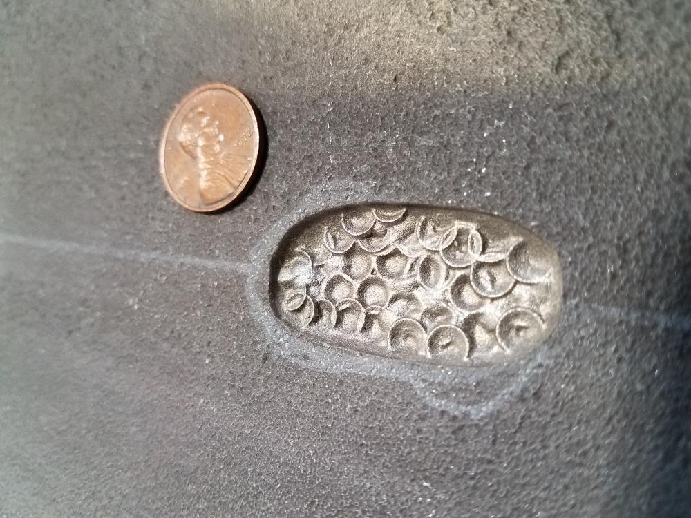 corrosion pattern compared to a penny